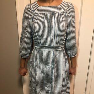 Striped Blue & White Dress